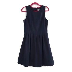 Vince Camuto Navy Pleated Sleeveless Dress Size 12